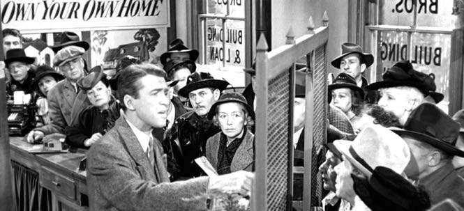 its a wonderful life bank run with george bailey and a crowd 1