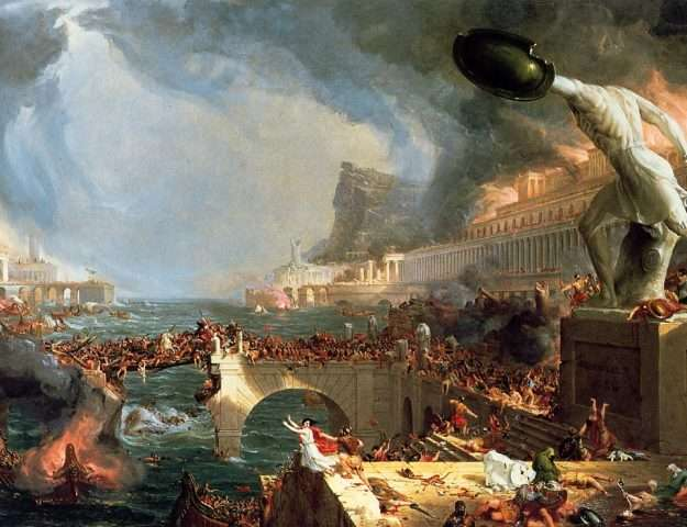 Cole Tthomas: The Course of Empire Destruction (1836)