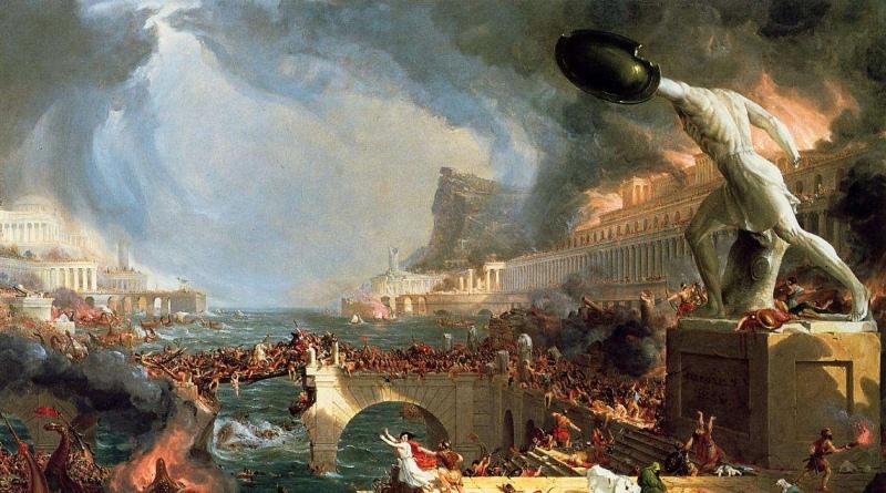 Cole Tthomas: The Course of Empire Destruction (1836)