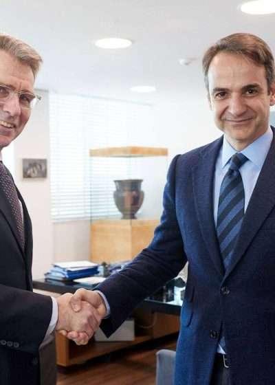 Συνάντηση με τον Πρέσβη των ΗΠΑ G. Pyatt είχε μια μέρα πριν τη συνάντηση με Τσίπρα ο Κυριάκος Μητσοτάκης.